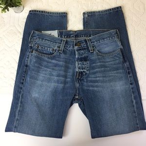 Hollister Straight Leg Button Fly Jeans 29x 30  P5